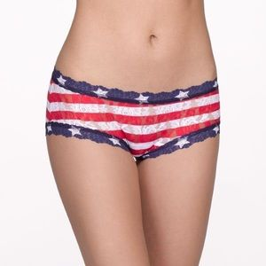 Hanky Panky Stars & Stripes Lace Boy Short Panty